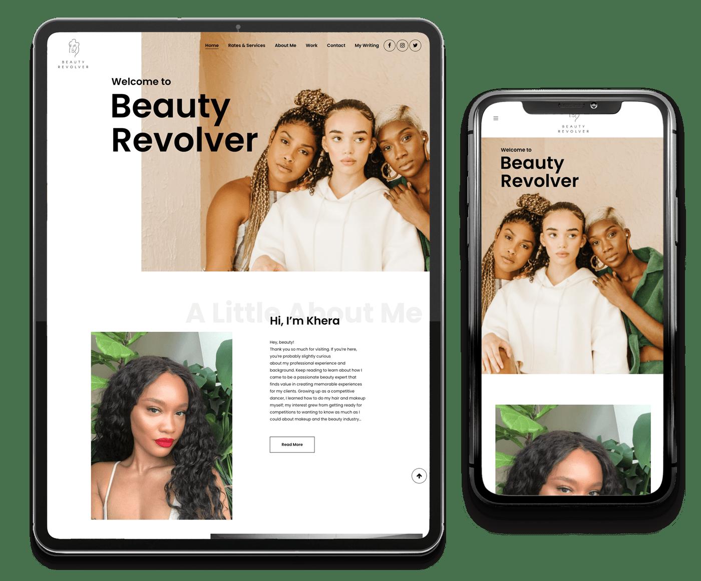 Beauty Revolver – Website